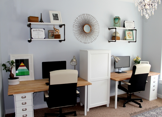 a family office and guest room in one my mommy style. Black Bedroom Furniture Sets. Home Design Ideas
