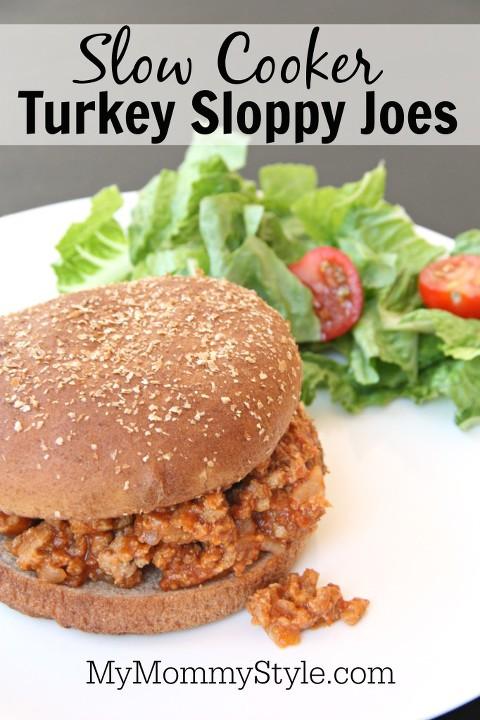 Slow cooker turkey sloppy joes