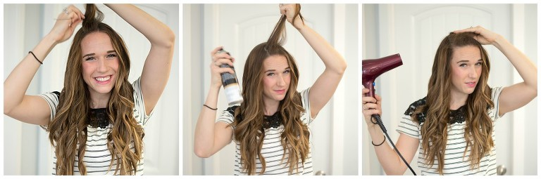 zap your hair with a blow dryer once you have teased your hair to set it in place
