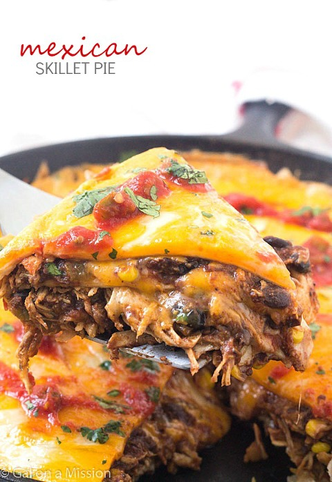 49 Mexican recipes Mexican-Skillet-Pie