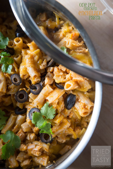 49 mexican recipes one-pot-chicken-enchilada-pasta-01