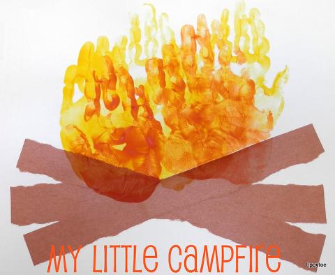hands campfire
