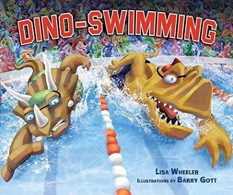 summer books dino swimming