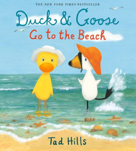 summer books duck and goose go to the beach