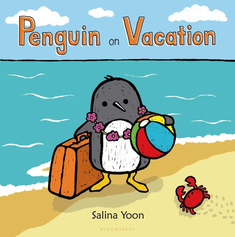 summer books penguin on vacation
