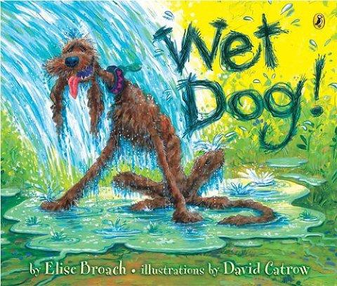 summer books wet dog