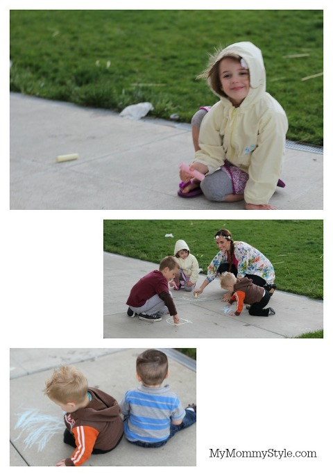chalk, family play time, my mommy style, family, play, quaker