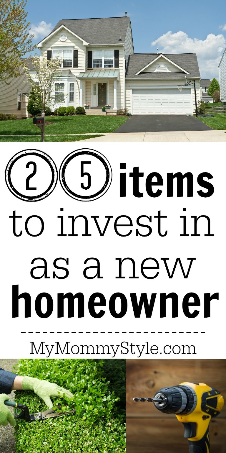 25 items to invest in as a new homeowner