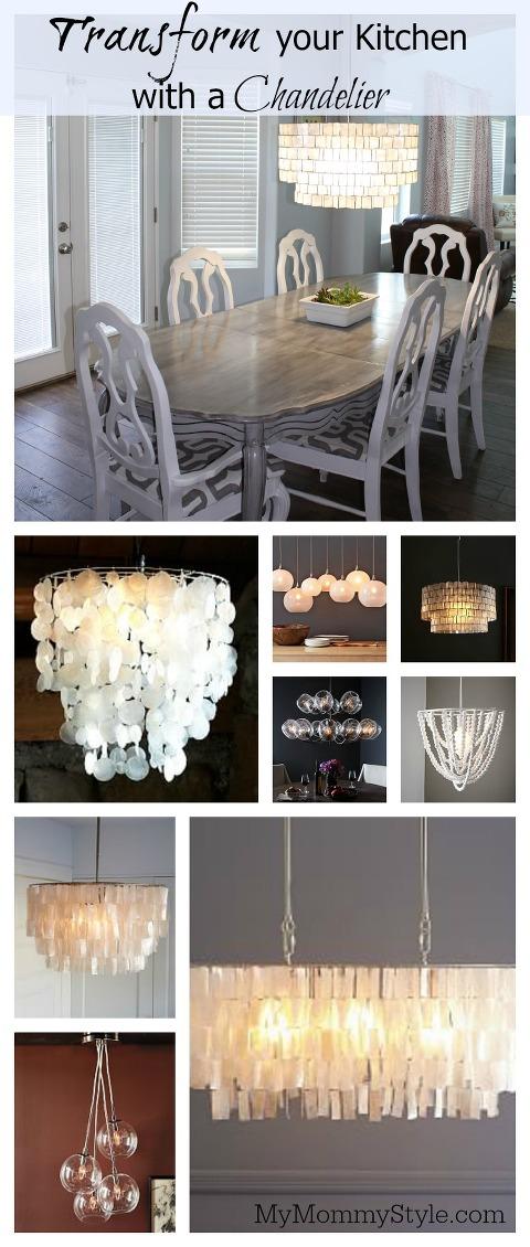 chandelier, kitchen lighting, west elm, mymommystyle, chandelier lighting