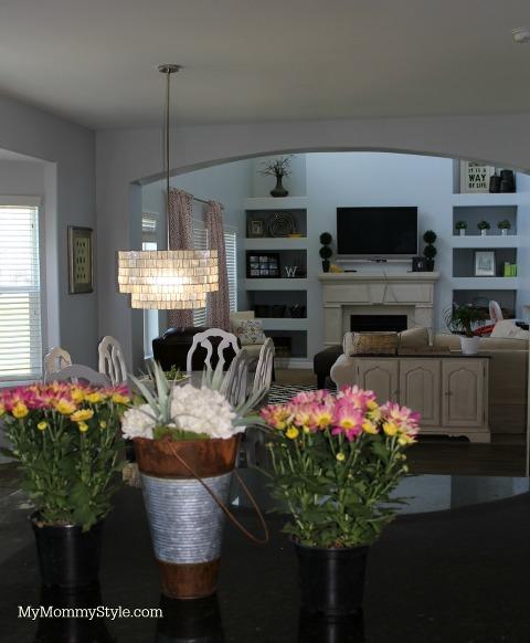 west elm, kitchen lighting, kitchen, my mommy style, chandelier, zig zag, flowers