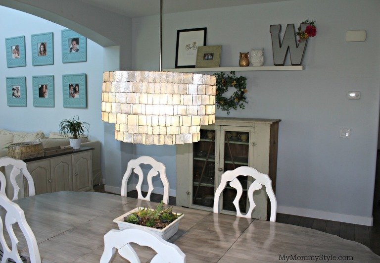 Kitchen With A Chandelier