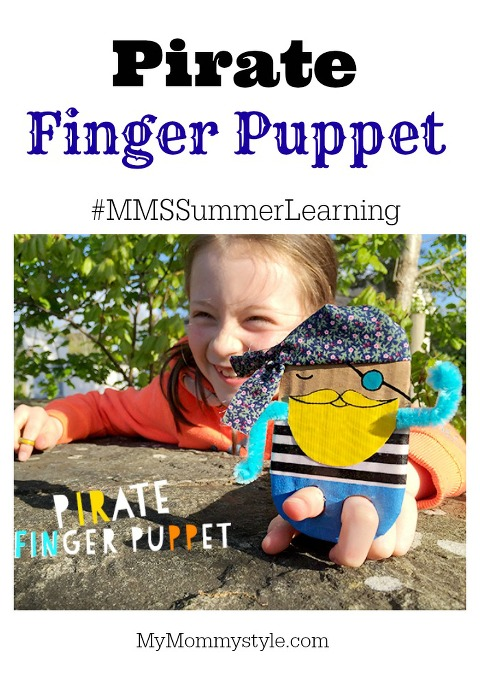 pirate finger puppet, summer learning, craft, craft for kids, mymommystyle, kbyu, summer activities, kid activities