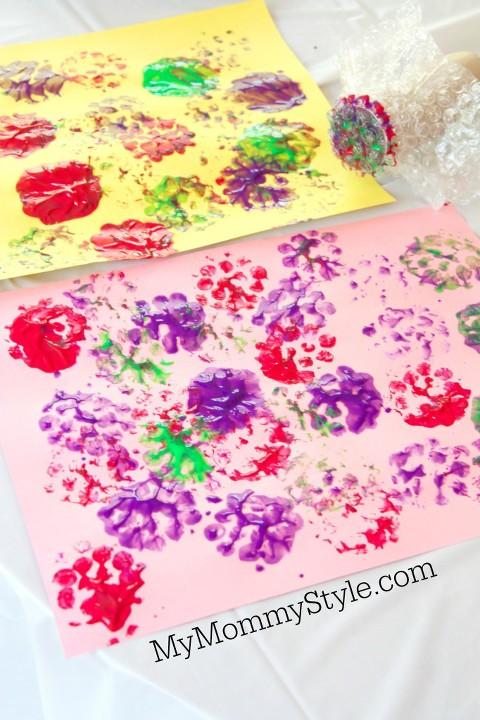 bubble wrap stamp prints