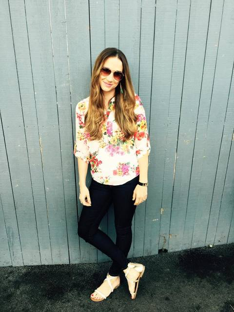Ruby Claire Boutique, My Mommy Style, fashion, summer, 2015, giveaway, floral blouse