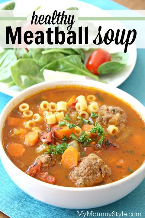 healthy meatball soup
