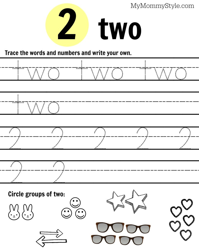 free printable number worksheets 1 9 my mommy style. Black Bedroom Furniture Sets. Home Design Ideas