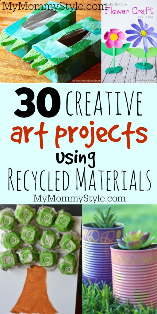 craft ideas using recycled materials 30 creative projects using recycled materials my 6312