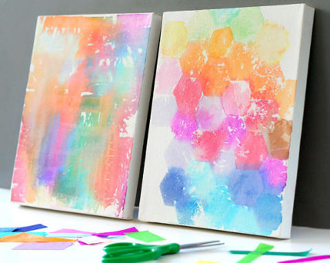 tissue paper painting