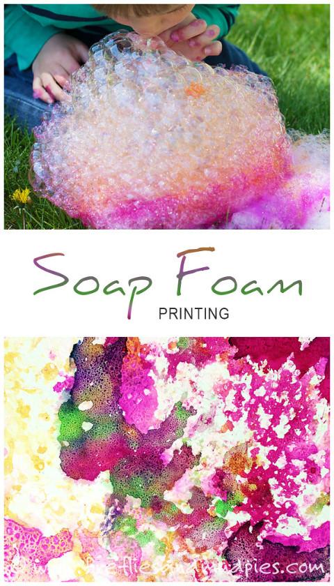 Soap Foam Painting