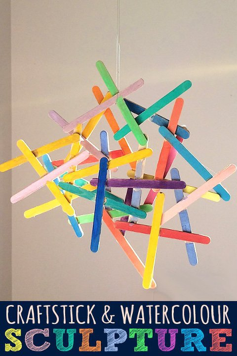 popsicle sticks sculpture
