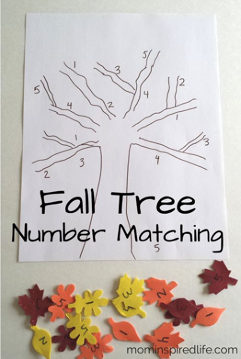 Fall Tree Number Matching Craft