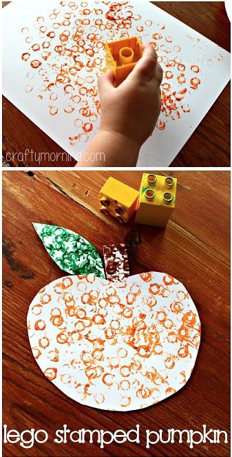 Lego stamp pumpkin