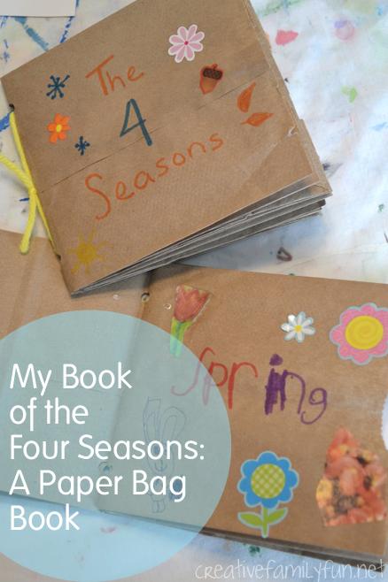 Paper Bag Book seasons activities