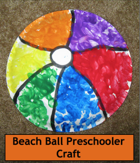 Beach ball preschooler craft