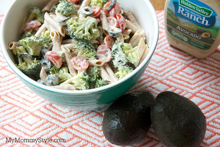 hidden valley avocado ranch pasta salad