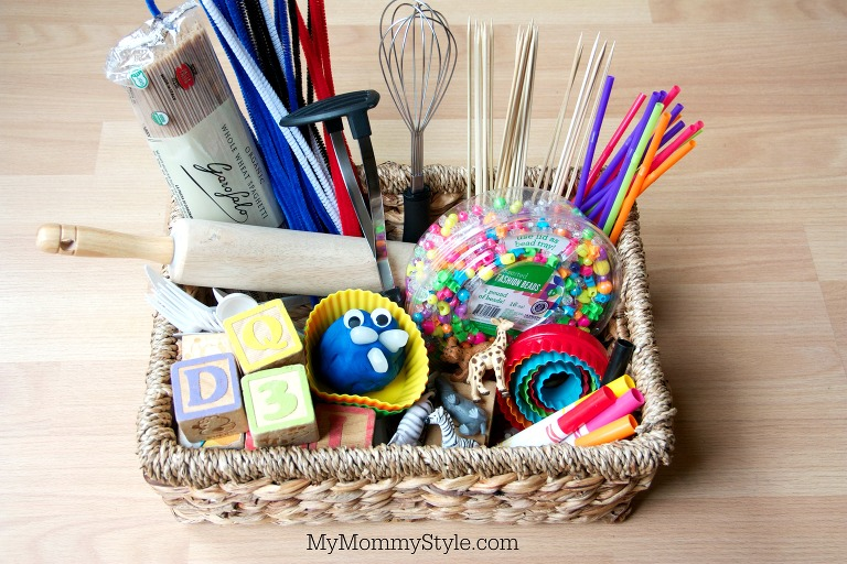 play doh tools in a basket