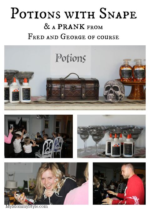 Potions with Snape, Harry Potter Party, My Mommy Style, Harry Potter