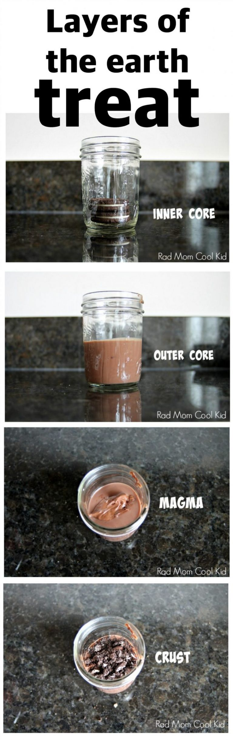 clear mason jar with pudding and cookies