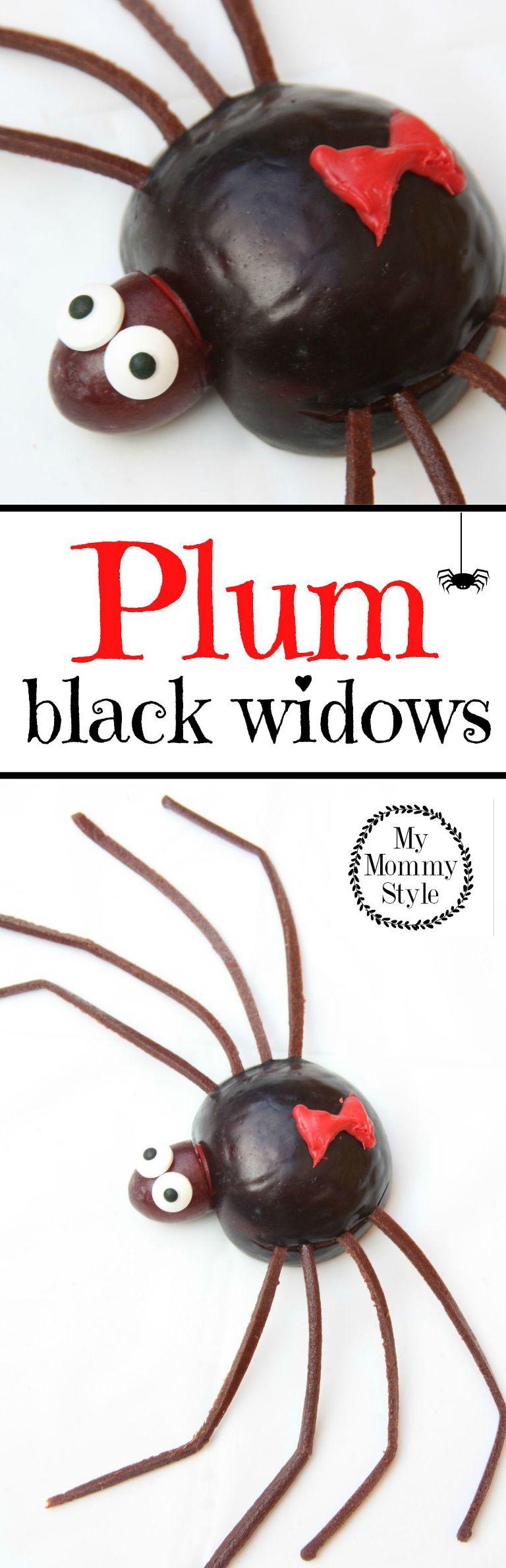 plum black widows for halloween