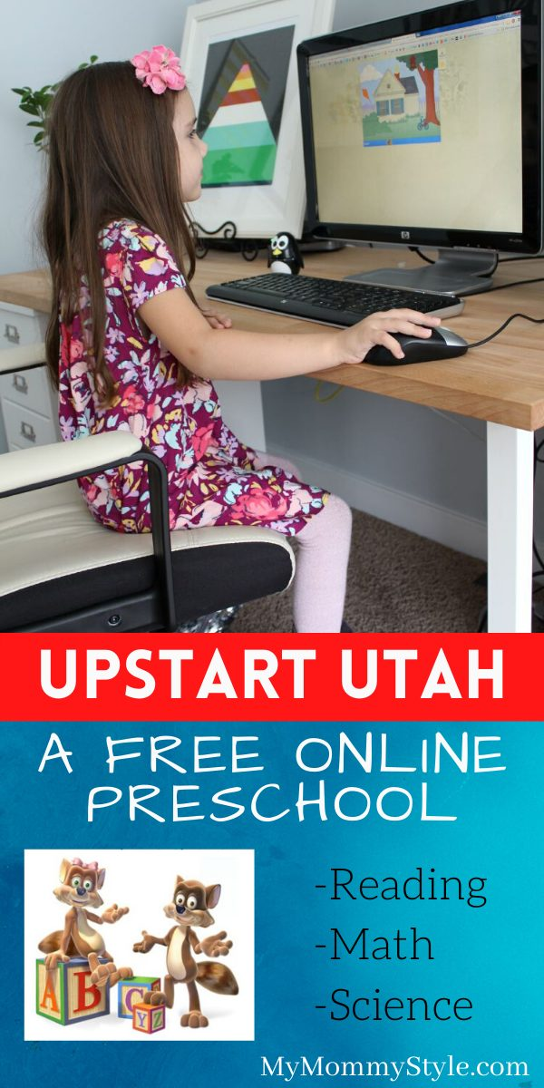 Get your kids ready for Kindergarten by registering with UPSTART in Utah. It's a FREE preschool online that makes learning fun! via @mymommystyle