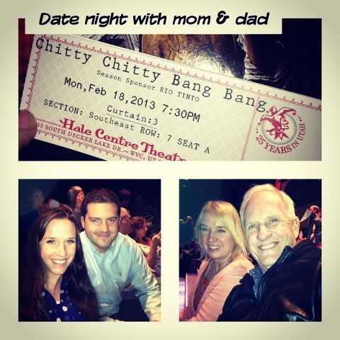 Date night with mom and dad