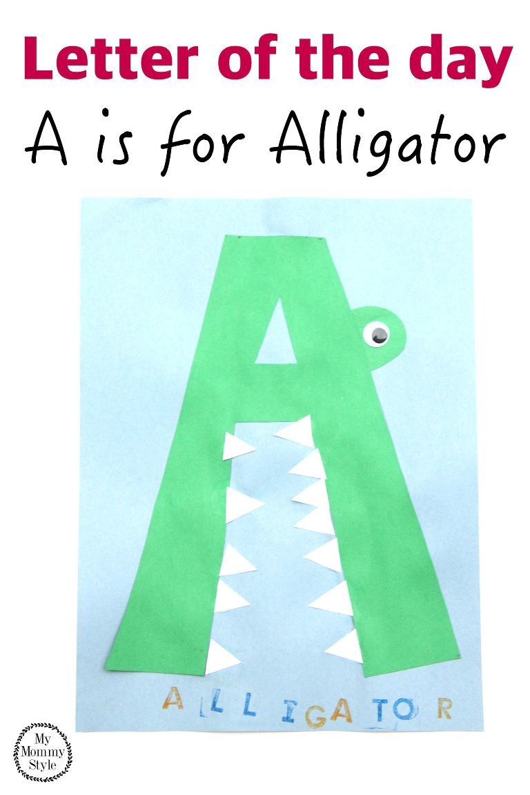 Letter of the day A is for alligator