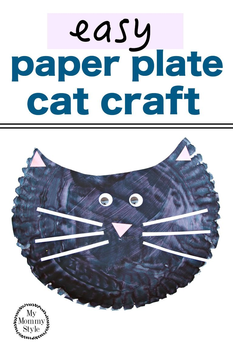 easy paper plate cat craft