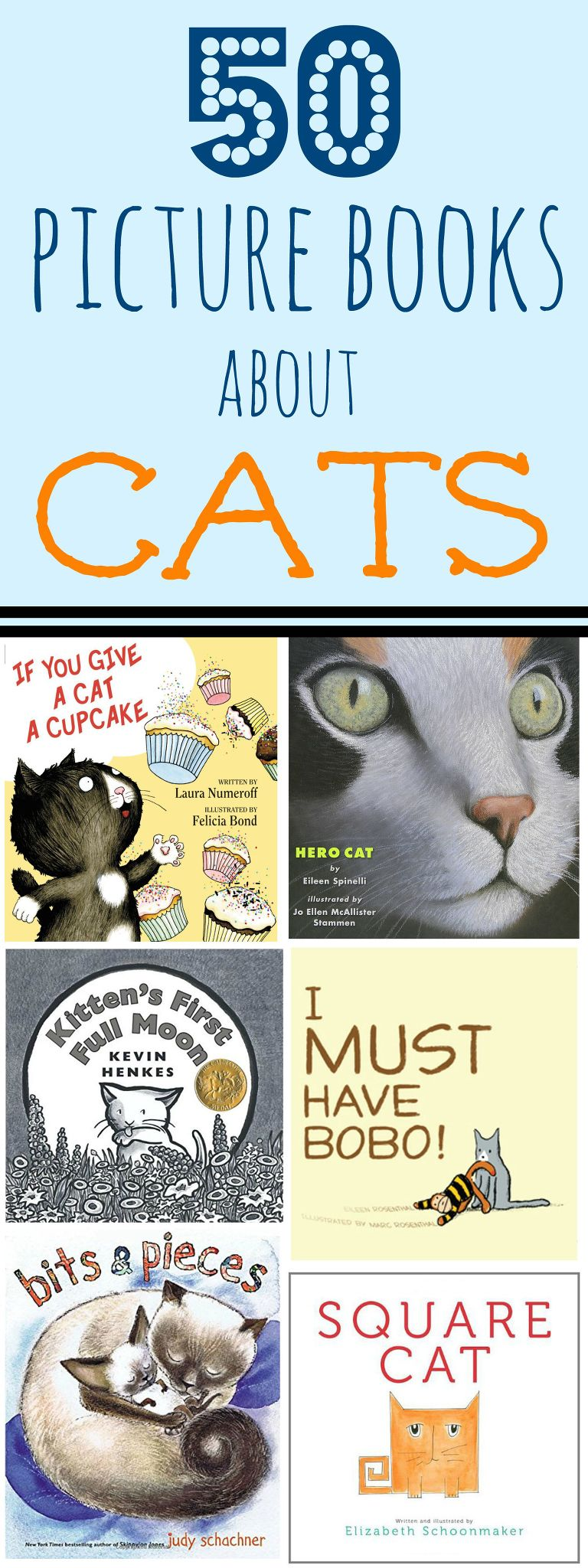 50 picture books about cats