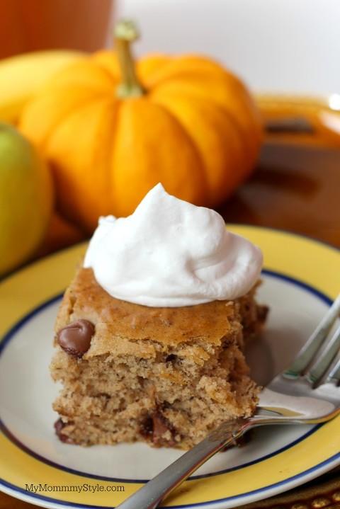 Banana Pumpkin Cake, pumpkin, fall, fall treats, yoplait, mymommystyle
