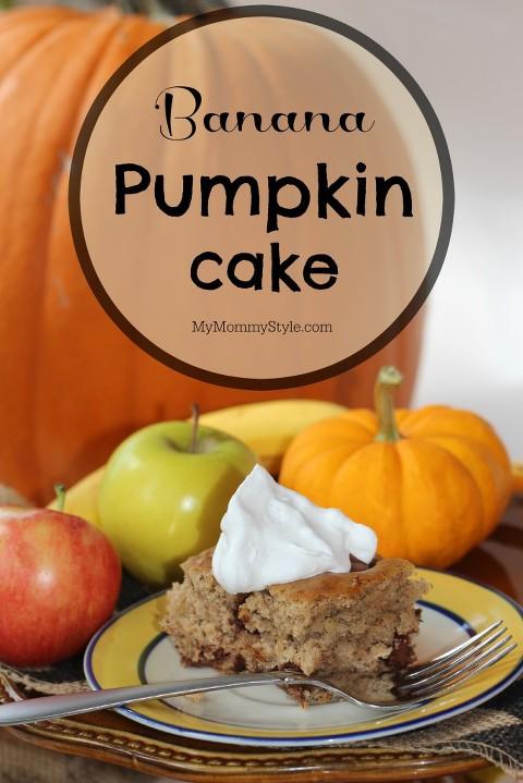 Banana Pumpkin Cake, pumpkin, fall, fall treats, yoplait, mymommystyle, banana, pumkin