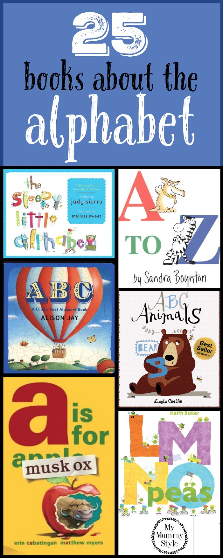 25 books about the alphabet