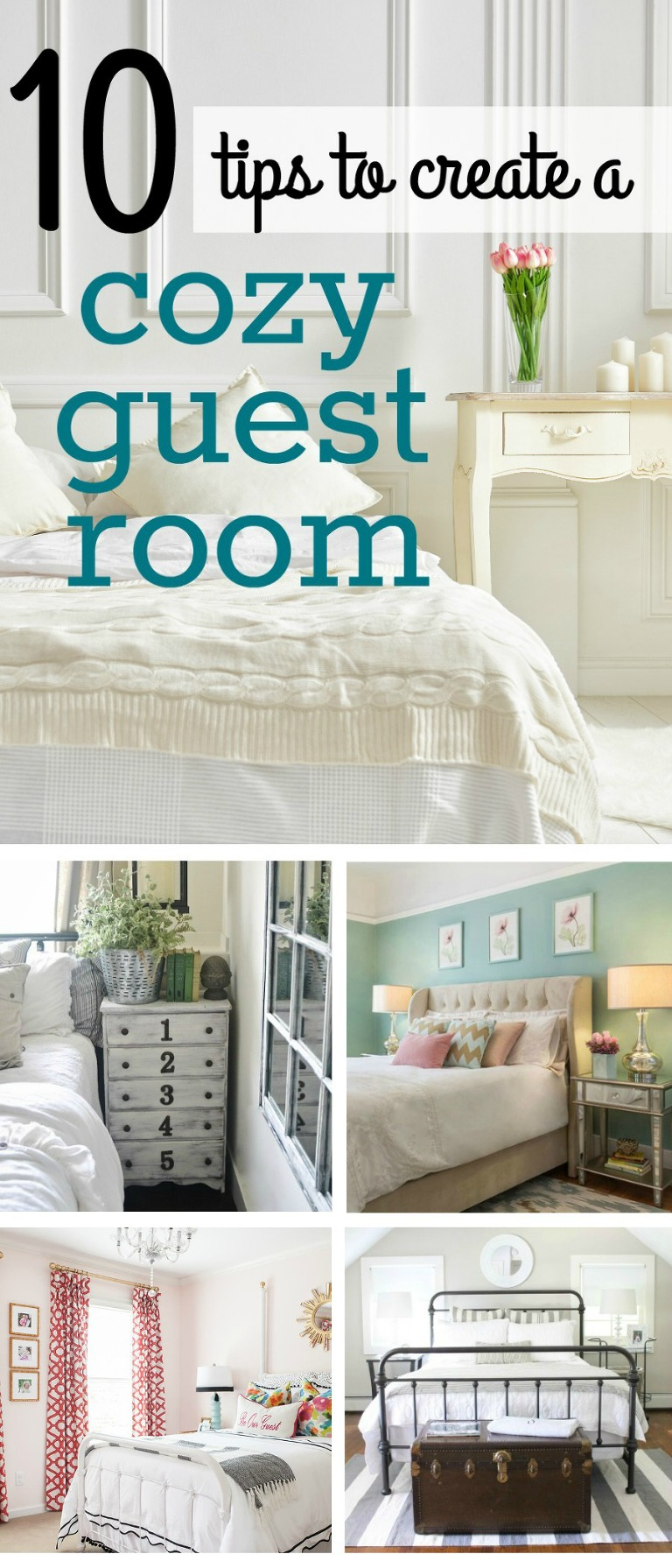 10 tips to creat a cozy guest room