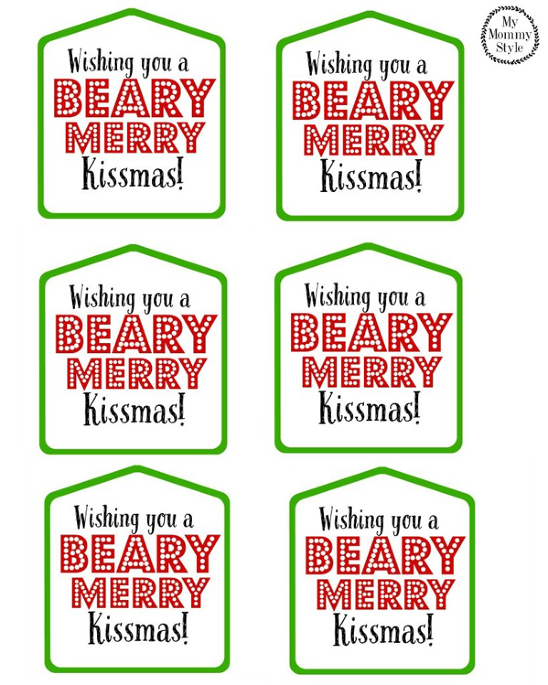 Wishing you a beary merry kissmas tag
