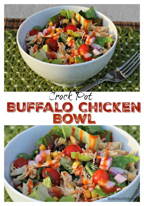 Buffalo Chicken Bowl, Buffalo chicken, slow cooker meal, crock pot chicken, dinner