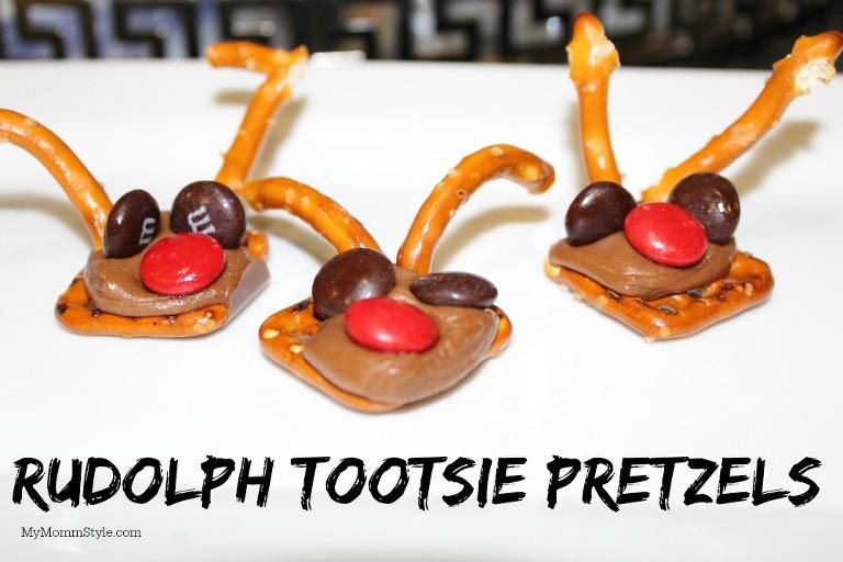Rudolph tootsie pretzels, mymommystyle