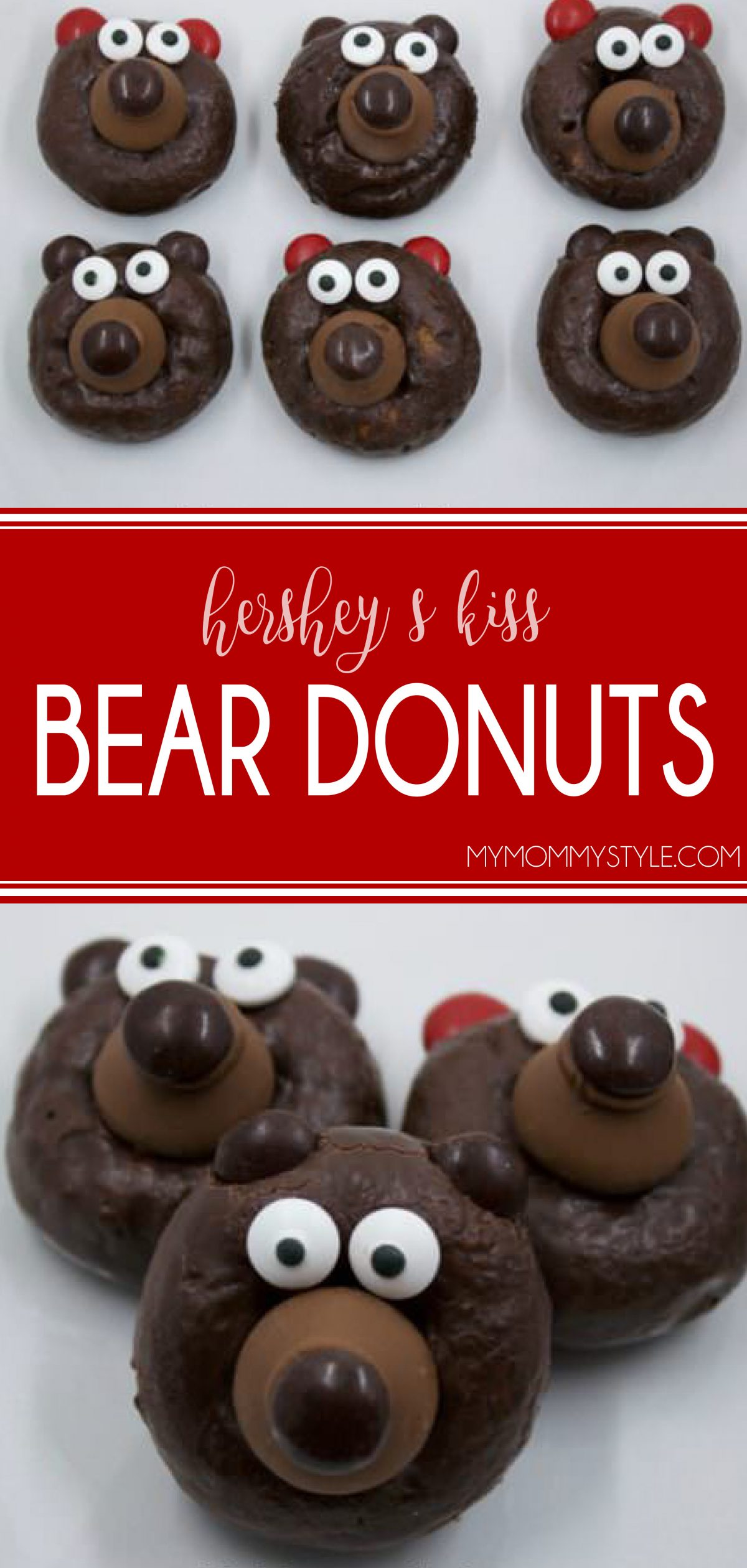 these bears are super adorable, but you won't believe how easy they are to make. You just need a few ingredients and about 10 minutes. These bears are so easy that you can include your whole family in on the fun of making them. via @mymommystyle