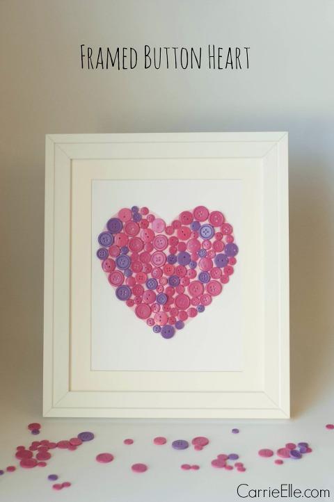 Framed-Button-Heart