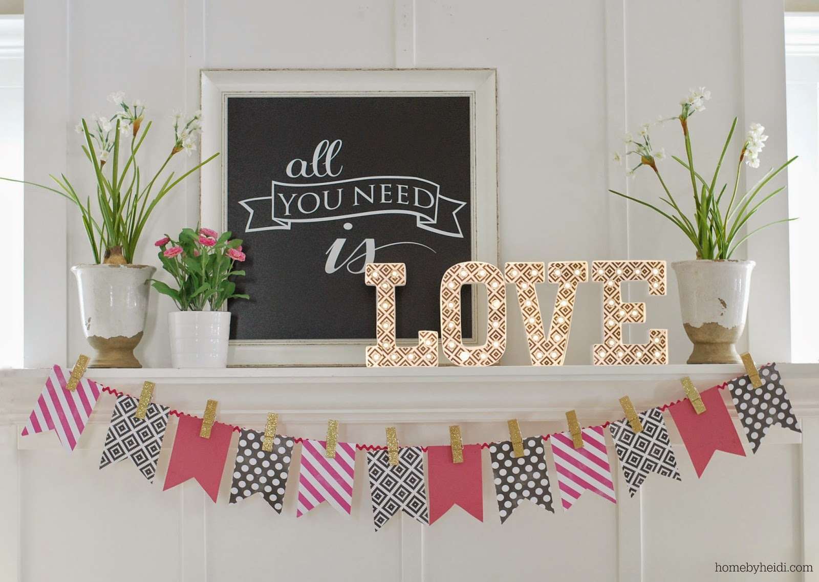 23 Stunningly Beautiful Decor Ideas For The Most: 15 Beautiful Valentine's Day Mantel Ideas