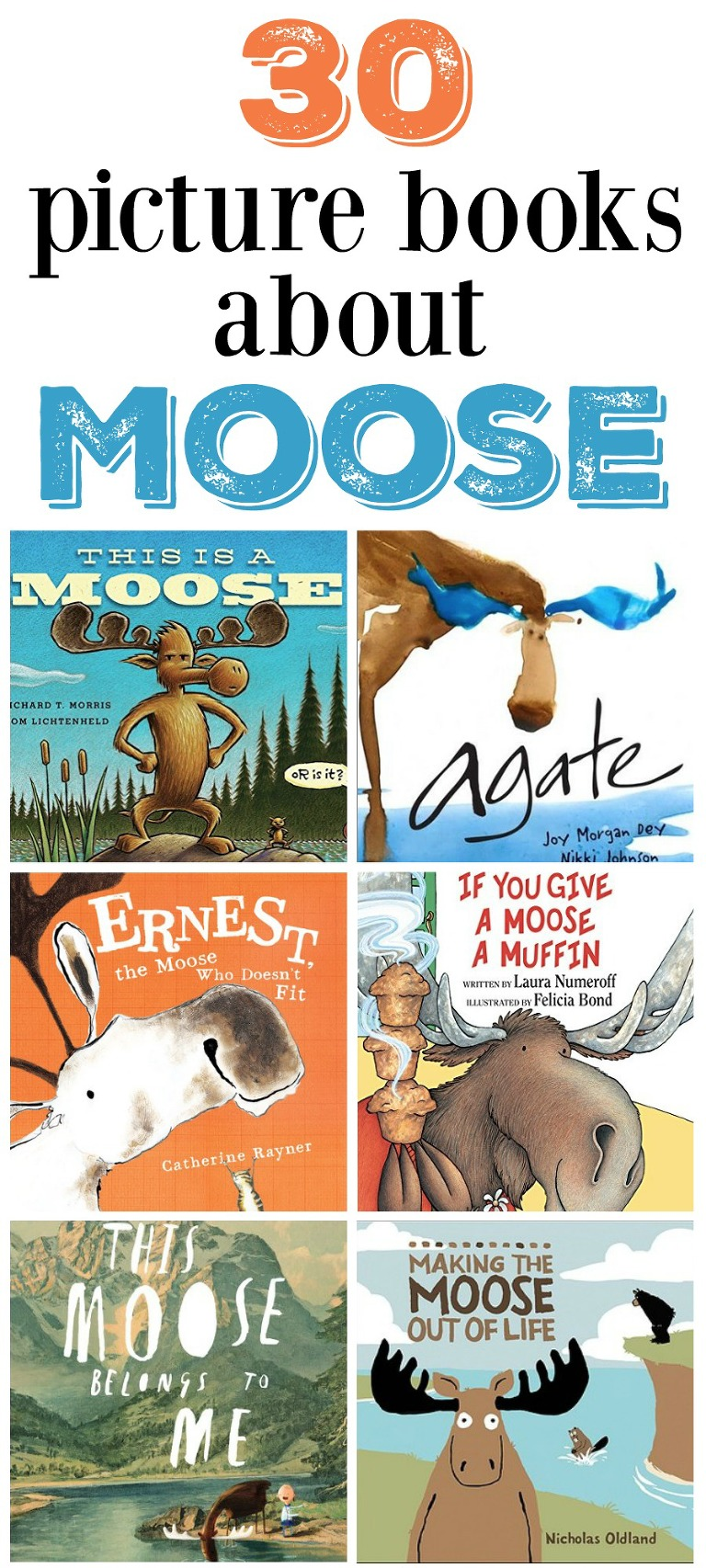 30 picture books about moose