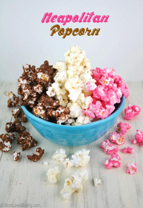 Bowl of Neapolitan sweet Popcorn